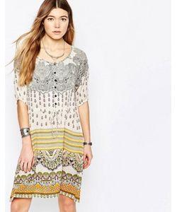 Diya | Платье С Присборенной Юбкой И Разноцветным Принтом