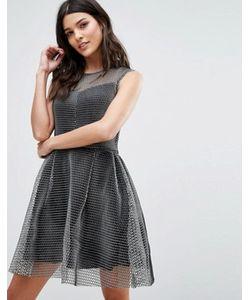 Lavand. | Короткое Приталенное Платье Металлик Lavand