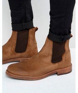 Asos | Кожаные Коричневые Ботинки Челси