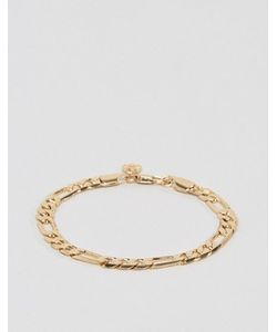 Chained & Able | Золотистый Браслет Из Цепочки Плетения Фигаро