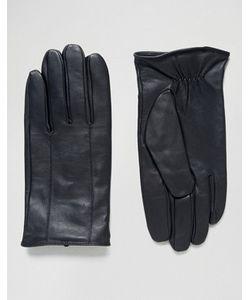 Barney's Originals   Черные Кожаные Перчатки Barneys
