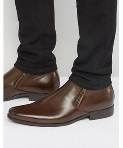 Asos | Коричневые Ботинки Челси Из Искусственной Кожи С Молниями