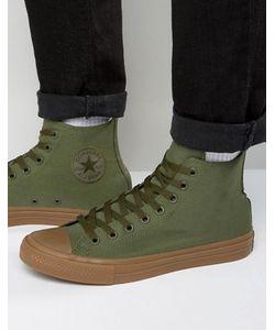 Converse | Высокие Зеленые Кеды Chuck Taylor All Star Ii 155498c