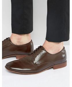 Asos | Коричневые Туфли Дерби Из Искусственной Кожи
