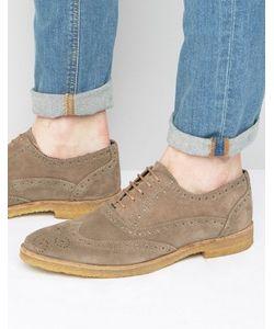 WALK London | Duke Suede Oxford Brogue Shoes