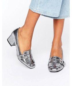 Carvela   Agatha Buckle Kiltie Mid Heeled Loafers