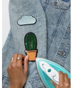 DesignB London   Designb Iron-On Cactus And Cloud Patches