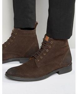 Dead Vintage | Коричневые Замшевые Ботинки Со Шнуровкой