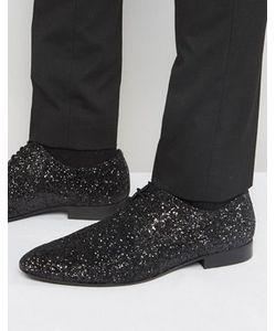 Dune   Черные Блестящие Туфли На Шнуровке
