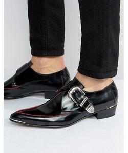 Jeffery west   Adam Ant Buckle Leather Shoe