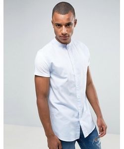 SikSilk | Skinny Fit Shirt In With Grandad Collar