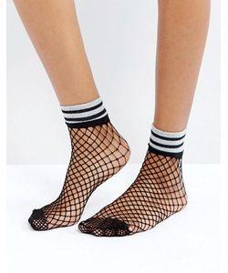 Asos | Сетчатые Носки С Блестящими Полосками