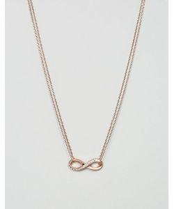 Pilgrim | Ожерелье Цвета Розового Золота С Подвеской В Виде Знака Бесконечности