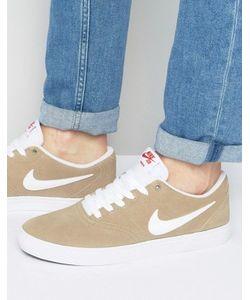 Nike SB | Бежевые Кроссовки Check Solar 843895-211