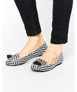 MISS KG | Neptune Tassel Weave Loafers