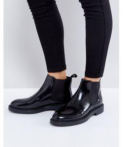 Vagabond | Черные Полированные Кожаные Ботинки Челси Alex