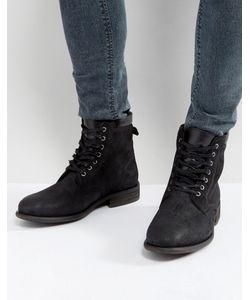 Aldo   Черные Кожаные Ботинки Со Шнуровкой Derrian