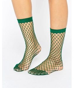Asos | Зеленые Носки В Крупную Сетку