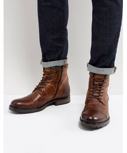 Jack & Jones | Кожаные Ботинки На Подкладке Из Искусственного Меха