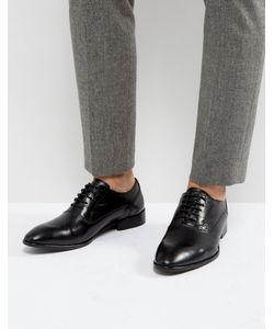 Base London | Черные Кожаные Оксфордские Туфли Holmes