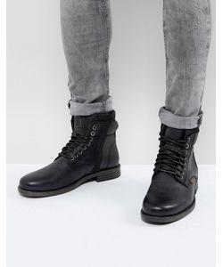 Levi's® | Черные Кожаные Ботинки С Джинсовой Отделкой Emmerson