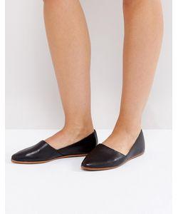 Aldo   Черные Кожаные Туфли На Плоской Подошве Blanchette