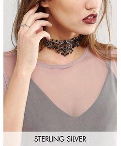 Regal Rose | Ожерелье-Чокер С Черными Кристаллами