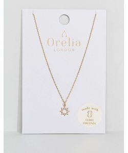 Orelia | Ожерелье С Кристаллами И Подвеской В Форме Солнца