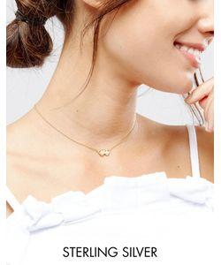 Asos | Ожерелье Из Позолоченного Серебра С Подвеской Близнецы