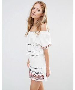 Piper | Платье Мини Цвета Экрю С Открытыми Плечами Butuan