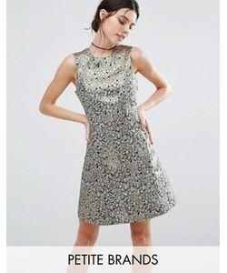 Vero Moda Petite | Жаккардовое Короткое Приталенное Платье