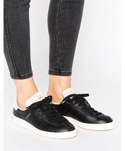 Adidas | Черные Кожаные Кроссовки Унисекс С Розовой Замшевой Отделкой Originals Topanga