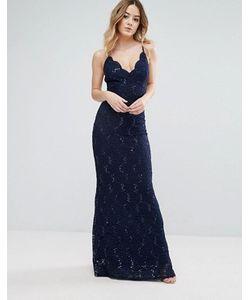 Jessica Wright   Кружевное Платье Макси На Бретелях