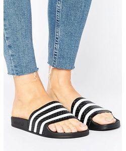 Adidas | Черно-Белые Сандалии Originals Adilette