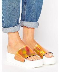 SixtySeven | Flatform Slide Flat Holographic Sandal