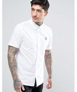 Pretty Green   Белая Оксфордская Рубашка Классического Кроя С Короткими Рукавами Oldbury