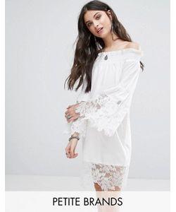 White Cove Petite | Кружевное Платье С Открытыми Плечами