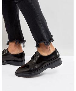 Asos | Черные Кожаные Туфли
