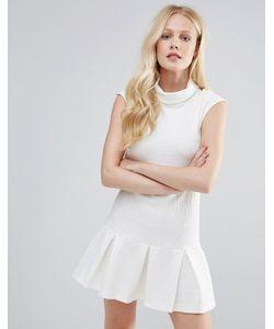 Closet London | Платье С Подвернутой Горловиной И Баской В Складку Closet