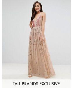 Maya Tall | Платье Макси С Глубоким Вырезом