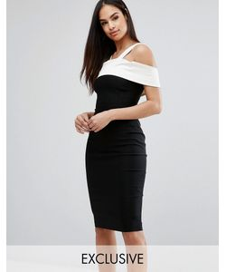 Vesper | Платье-Футляр C Контрастной Атласной Отделкой