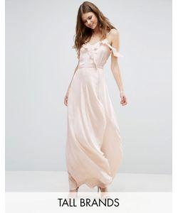 Vero Moda Tall | Платье Макси С Открытыми Плечами И Оборками Спереди