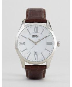 BOSS   Часы С Коричневым Кожаным Ремешком By Hugo 1513021 Ambassador