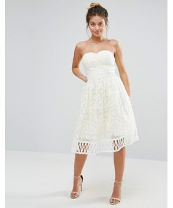 Chi Chi London | Кружевное Платье Без Бретелек Premium