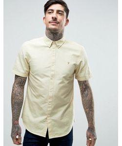 Farah | Желтая Оксфордская Рубашка С Короткими Рукавами Brewer