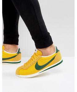 Nike | Желтые Премиум-Кроссовки Из Нейлона Cortez 876873-700