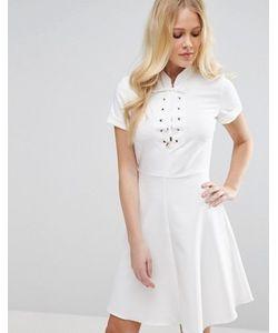 Closet London | Платье С Короткими Рукавами И Шнуровкой Closet