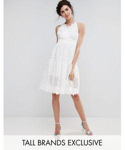 True Decadence Tall | Кружевное Платье Для Выпускного С Запахом