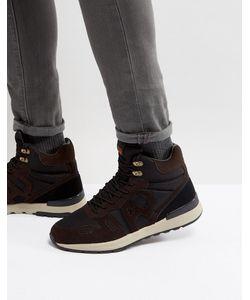 ARMANI JEANS | Черные Ботинки Со Шнуровкой И Логотипом