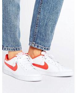 Nike | Красно-Белые Кроссовки Court Royale